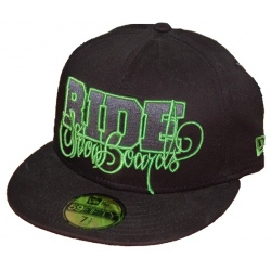 Ride Script New Era Fitted Cap Black
