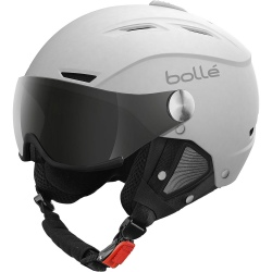 Bollé Backline Visor Soft White & Silver With Modulator Grey Visor