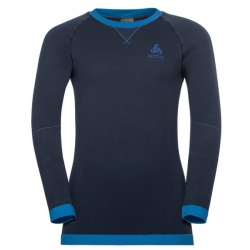 Odlo T-SHIRT ML PERFORMANCE WARM bleu
