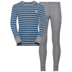 Odlo SET WARM ENFANT gris/bleu
