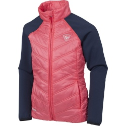 Rossignol GIRL CLIM LIGHT JACKET rose/marine