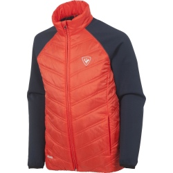 Rossignol BOY CLIM LIGHT JACKET rouge/marine