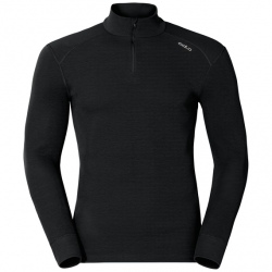 Odlo T-SHIRT ML 1/2 ZIP ACTIVE WARM ORIGINALS noir
