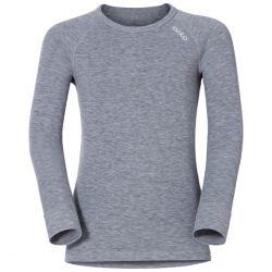 Odlo T-SHIRT ML WARM gris mélangé