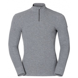 Odlo T-SHIRT ML 1/2 ZIP ACTIVE WARM ORIGINALS gris mélangé