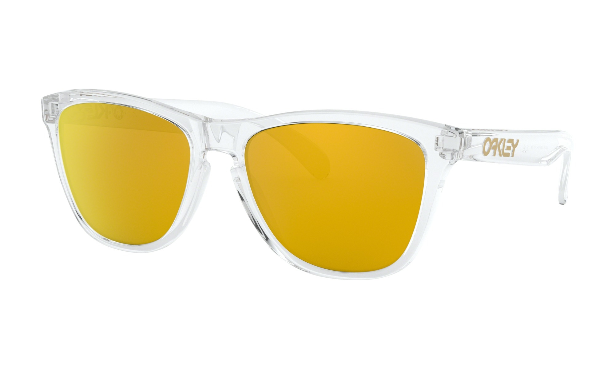 cb61762e9c Oakley Frogskins™ Crystal Collection Polished Clear 24k Iridium -  Speck-Sports