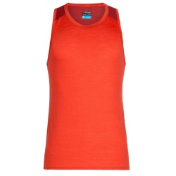 Icebreaker MENS AMPLIFY TANK chili red/sienna