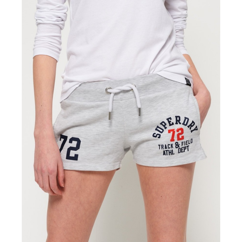 9bb8526b32c23a Superdry TRACK AND FIELD LITE SHORTS ice marl - Speck-Sports