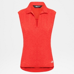 TheNorthFace INLUX S/L TOP juicy red dark heather