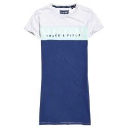 Superdry TRACK & FIELD TSHIRT DRESS blue fade