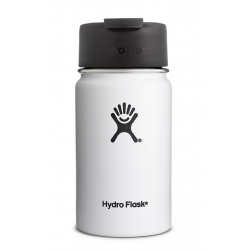 Hydro Flask 12 oz Wide Mouth with Flip Lid White