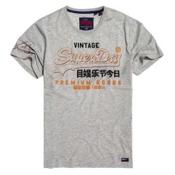 Superdry PREMIUM GOODS OUTLINE MID TEE grey marl