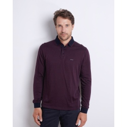 Mise au green POLO ML FANTAISIE bordeaux