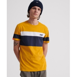 Superdry ORANGE LABEL CHESTBAND TEE ochre
