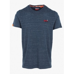 Superdry OL VINTAGE EMBROIDERY TEE creek navy