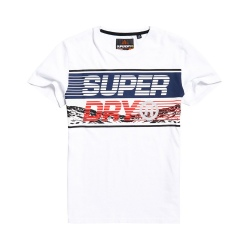 Superdry DOWNHILL PHOTOGRAPHIC TEE optic