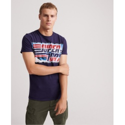 Superdry DOWNHILL PHOTOGRAPHIC TEE rich navy
