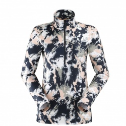 Eider WAX 1/2 ZIP PRINT W rose