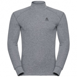 Odlo T-SHIRT ML COL MONTANT ACTIVE WARM grey melange