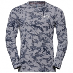 Odlo T-SHIRT ML ACTIVE WARM Originals grey melange AOP