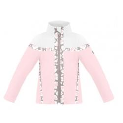 Poivre blanc BB HYBRID FLEECE JKT angel pink/white