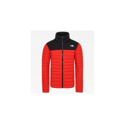 The North Face M STRETCH DOWN JKT fiery red/TNF black