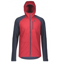 Scott HOODY M'S EXPLORAIR ASCENT POLAR wine red/blue nights
