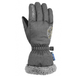 Reusch MARLENA R-TEX® XT JUNIOR cat light grey/silver/gol