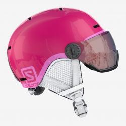 Casque Salomon GROM VISOR glossy pink/univers
