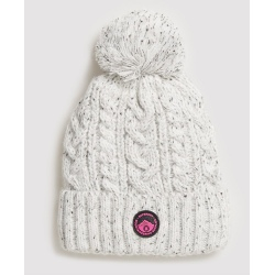 Superdry Gracie Cable Beanie Ice Grey