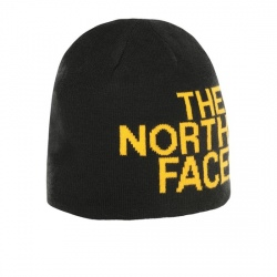 The North Face REVERSIBLE TNF BANNER BEANIE Tnf Black/Tnf Yellow