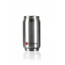 Canette isotherme Les Artistes PULL CAN'IT ISOTHERM 280ML Metal argent brillant