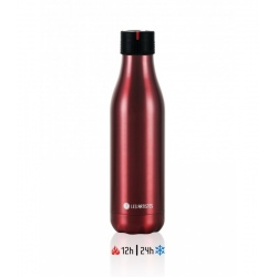 Bouteille isotherme Les Artistes BOTTLE UP TIME'UP 500ML Rouge metal mat