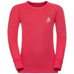 Odlo T-SHIRT ML ACTIVE WARM ENFANTS Hibiscus