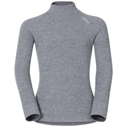 Odlo T-SHIRT WARM COL DROIT ENFANT Grey Melange