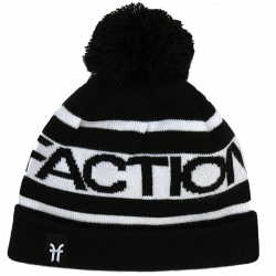 Faction Pom Pom Beanie Black White 2020