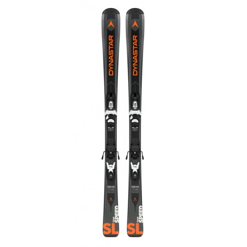 Pack de skis Dynastar TEAM SPEED 100-130 (KID-X) black + fix KID-X 4 B76 black/white