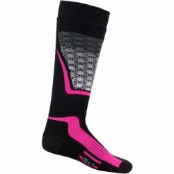 Chaussettes de ski Rossignol W WOOL & SILK fluo pink