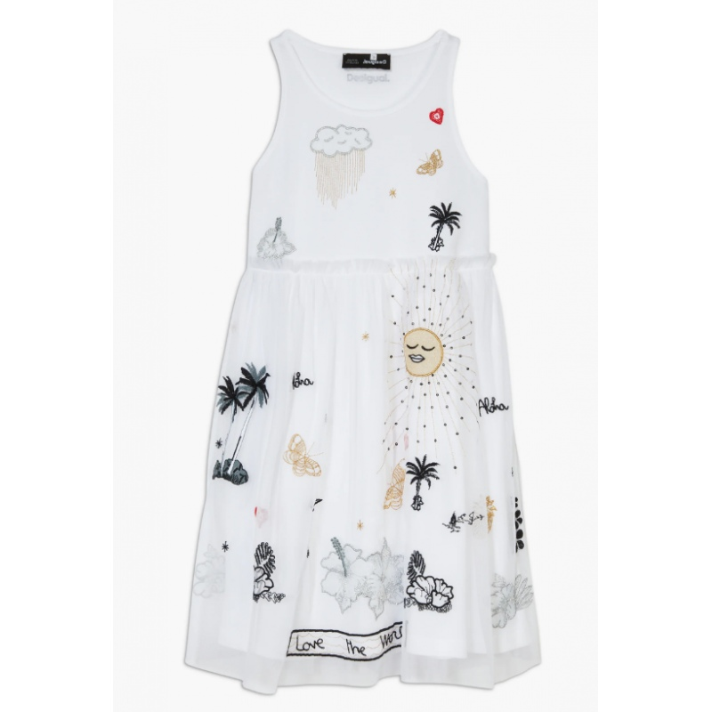Dress Desigual TUXTLA blanco