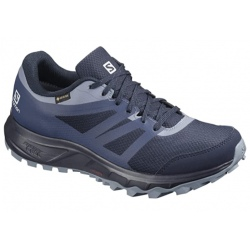 Chaussures de trail Salomon TRAILSTER 2 GTX W navy blazer/sargasso sea/flint stone