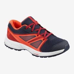 Running shoes SENSE J evening blue / red dahlia / cherry tomato