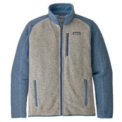 Fleece Patagonia M'S BETTER SWEATER FLEECE JACKET bleached stone w/ pigeon blue