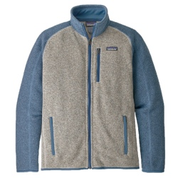 Polaire Patagonia M'S BETTER SWEATER FLEECE JACKET bleached stone w/ pigeon blue