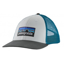 Casquette Patagonia P-6 LOGO LOPRO TRUCKER HAT white w/ forge grey