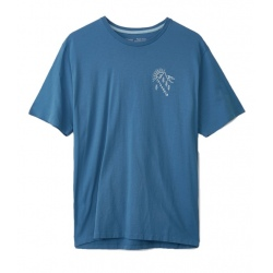 T-shirt Patagonia M'S HOW TO HELP ORGANIC T-SHIRT pigeon blue
