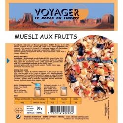 Voyager Muesli fruits rouges 80g