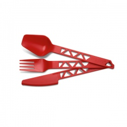 Set de couverts Primus LIGHTWEIGHT TRAIL CUTLERY TRITAN Red