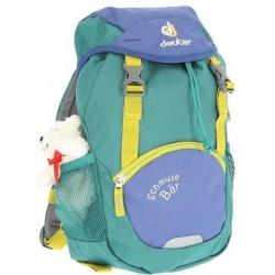 Backpack for kids Deuter SCHMUSEBAR WITH TOY indigo-alpine green