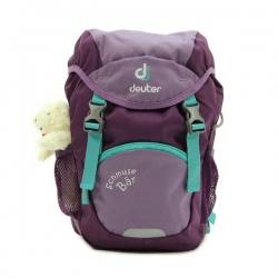 Backpack for kids Deuter SCHMUSEBAR WITH TOY flieder plum