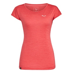 T-shirt Salewa PUEZ MELANGE DRY'TON rose red melange